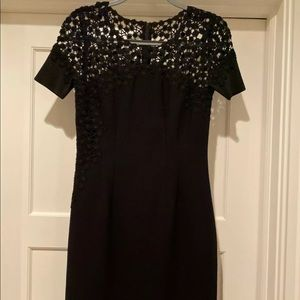 Elie Tahari Black Short Sleeve Dress Size 4